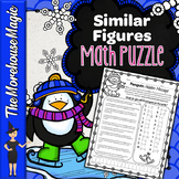 PROPORTIONS MATH PUZZLE - SIMILAR FIGURES, SCALE DRAWINGS, & MAPS WORD PROBLEMS