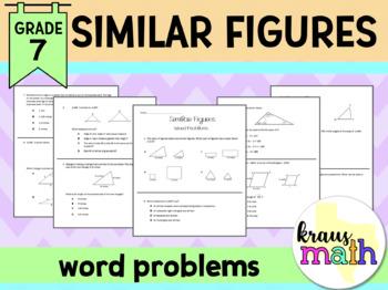 Similar Figures Word Problems/ Test-Prep Questions