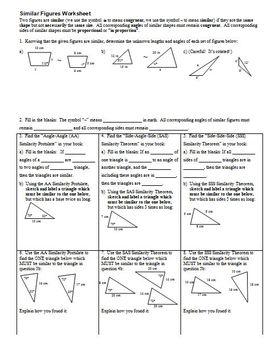 Similar Figures Worksheet (Editable)