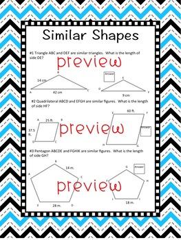 Similar Figures Worksheet