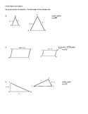 Similar Figures and Algebra