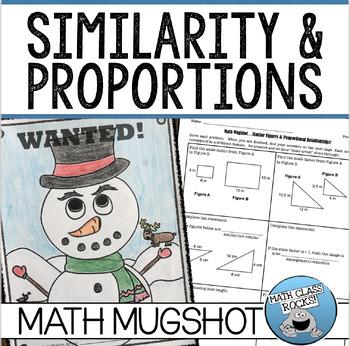 "SIMILAR FIGURES & PROPORTIONAL RELATIONSHIPS - ""MATH MUGSHOT"""