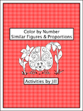 Similar Figures and Proportions Color by Number