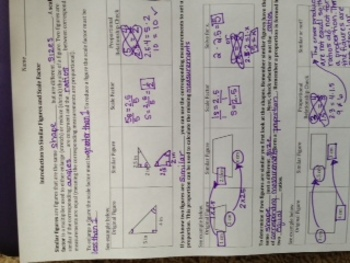 Similar Figures and Scale Factor Interactive Notebook Page & Practice Problems