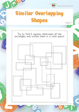 Similar Overlapping Shapes (Visual Perception Worksheets)