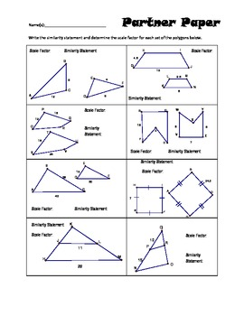 Scale Factor Worksheets Teaching Resources | Teachers Pay Teachers
