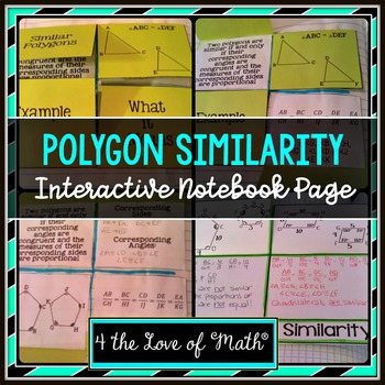 Similar Polygons Interactive Notebook Page