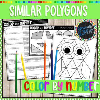 Similar Polygons Color by Number; Geometry