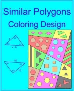 Similar Polygons - Coloring Design