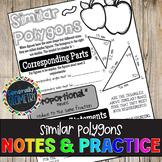 Similar Polygons Doodle Guide & Practice Worksheet; Geometry