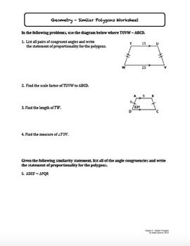 Similar Polygons (Lesson with Homework)