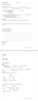 Similar Polygons - PowerPoint, Notes, and Practice BUNDLE