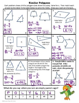 Similar Polygons-Quick Activity