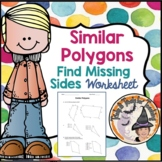 Similar Polygons Quiz Practice Worksheet Geometry Find Missing Sides Polygon