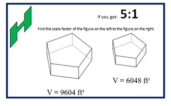 Similar Polygons Scavenger Hunt (Finding the Scale Factor)