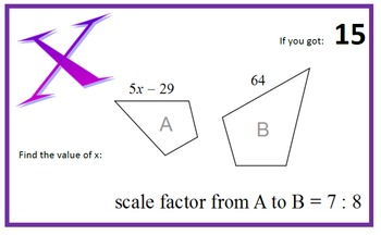 Similar Polygons Scavenger Hunt (Using the Scale Factor)