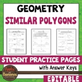 Similar Polygons - Student Practice Pages