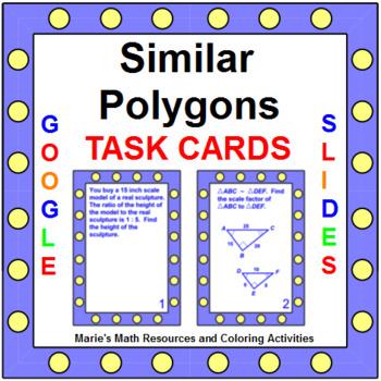 Similar Polygons - TASK Cards (20 cards) G.SRT.5
