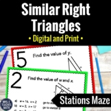 Similar Right Triangles Activity   Digital and Print