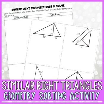 Similar Right Triangles Sort & Solve