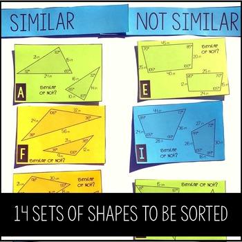 Similar Shapes Card Sort