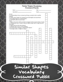 Similar Shapes Crossword Puzzle