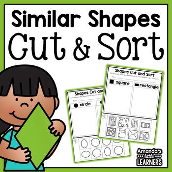 Similar Shapes Cut and Sort Worksheets