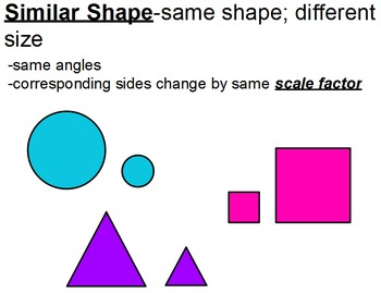 Similar Shapes Flipchart
