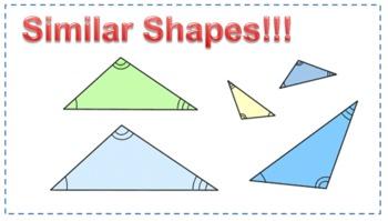 Similar Shapes Worksheet- Triangles