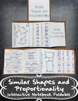 Similar Shapes and Proportionality INB-TEKS 8.3A