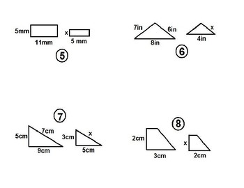 Similar Shapes with Missing Side Lengths