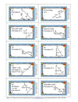 Similar Triangle Pass Around Activity
