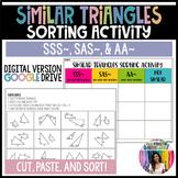 Similar Triangle Sorting Activity (GOOGLE Slides) Distance