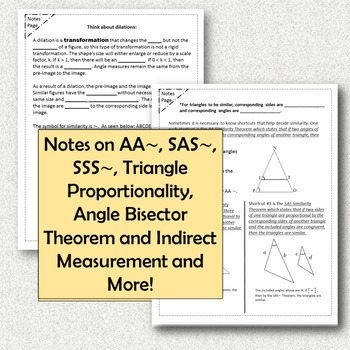 Similar Triangle Unit