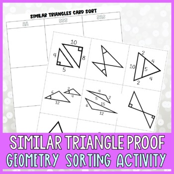 Similar Triangles Card Sort