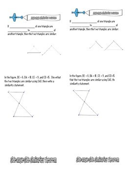 Similar Triangles Flipbook