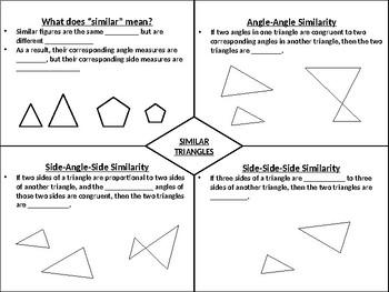 Similar Triangles Graphic Organizer