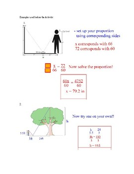 Similar Triangles Indirect Measurement Outdoor Activity