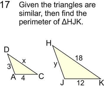 Similar Triangles Instruction, Student Reference, 11 Assignments for Power Point