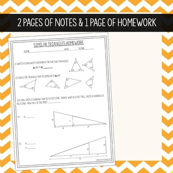Similar Triangles - Interactive Notes & Homework
