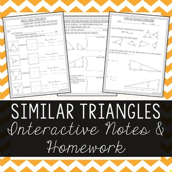 Similar Triangles - Interactive Notes & Homework