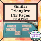 Similar Triangles - Methods of Similarity Cut & Paste Interactive Notebook Pages