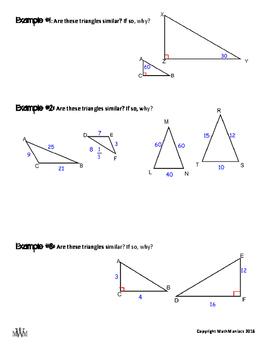 Similar Triangles Notes