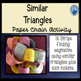 Similar Triangles Paper Chain Activity