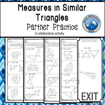 Similar Triangles Partner Practice