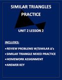 Similar Triangles Practice PDF