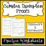 Similar Triangles Proofs Practice Worksheets (Classwork an