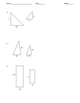 Similar Triangles/Figures Quiz
