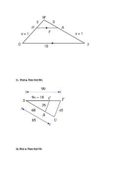 Similar Triangles Quiz/Worksheet