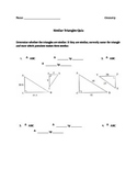 Similar Triangles Quiz/Worksheet
